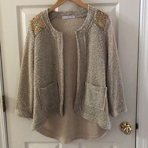 Potter's Pot Open Cardi Sweater Anthropologie